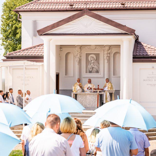 Ceremonia chrztu świętego w Sanktuarium Święta Woda